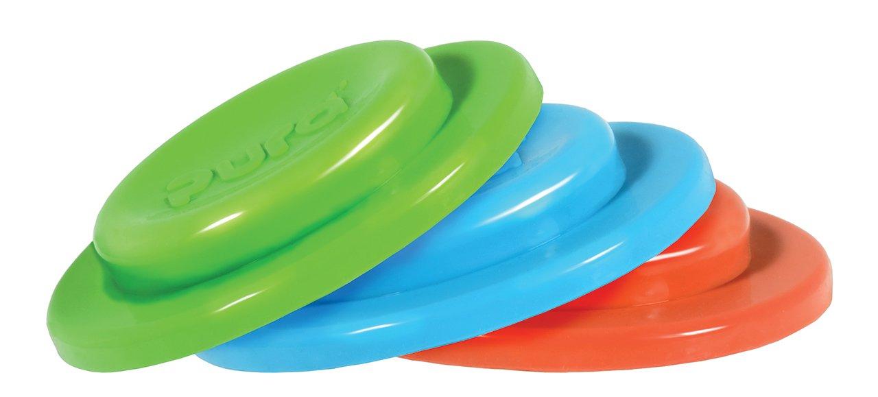 Pura Kiki Silikondeckel, 3 stück je box, grün / blau / orange 3 stück je box grün / blau / orange SD-01-3