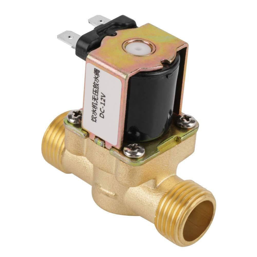 24V BSPP G1//2 Brass N//C Normally Closed Electric Solenoid Valve 2 Way Pressure Regulating Valve Solenoid Valve