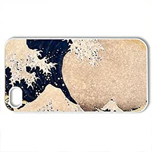 Asian Art10 - Case Cover for iPhone 4 and 4s (Oceans Series, Watercolor style, White)