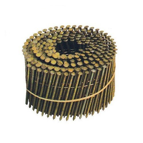 BOSTITCH C4R80BDG Thickcoat Round Head 1-1/2-Inch by .080-Inch by 15 Degree Ring Shank Coil Sliding Nail (4,200 per (Bostitch Round Head)