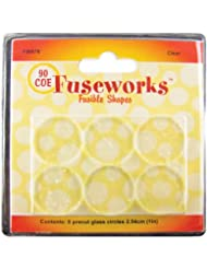 Fuseworks Fusible Glass Shapes, 1-Inch Round Disks, Clear, 6-...