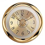 Cheap XSHION Wall Clock Silent, 12 Inch Quartz Vintage Living Room Decorative Round Battery Operated Non Ticking Wall Clocks