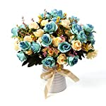 LY-EMMET-Artificial-Rose-Bouquets-with-Ceramics-Vase-Fake-Silk-Rose-Flowers-Decoration-for-Table-Home-Office-Wedding-Blue