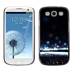 FECELL CITY // Duro Aluminio Pegatina PC Caso decorativo Funda Carcasa de Protección para Samsung Galaxy S3 I9300 // Water Awe Inspiring Black