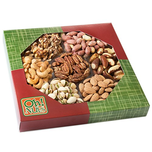 Healthy-Dry-Roasted-Salted-7-Variety-Food-Gift-No-Additives-NO-OIL-Great-Gift-for-Him-or-Her-Vegans-and-Vegetarians-Oh-Nuts-Salted-Gift-Tray