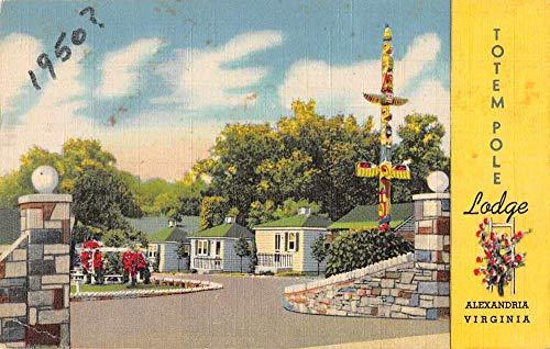 Alexandria Virginia Totem Pole Lodge Roadside America Vintage Postcard JI658245