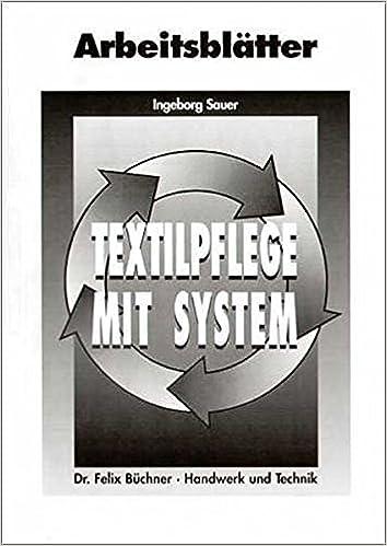 Textilpflege mit System, Arbeitsblätter: Amazon.de: Ingeborg Sauer ...