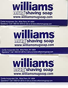 Williams Mug Shaving Soap, 3 Count