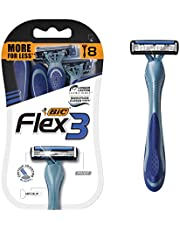 BIC Flex 3 Titanium Men's Disposable Razor, Triple Blade, 8 Count, for an Ultra Smooth and Close Shave