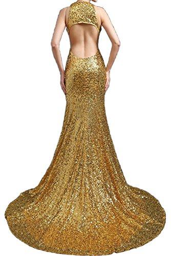 Lang Neu Sexy Promkleider Paillette Golden Abendkleider Ivydressing Traeger Damen Meerjungfrau Ballkleider B6wq07q