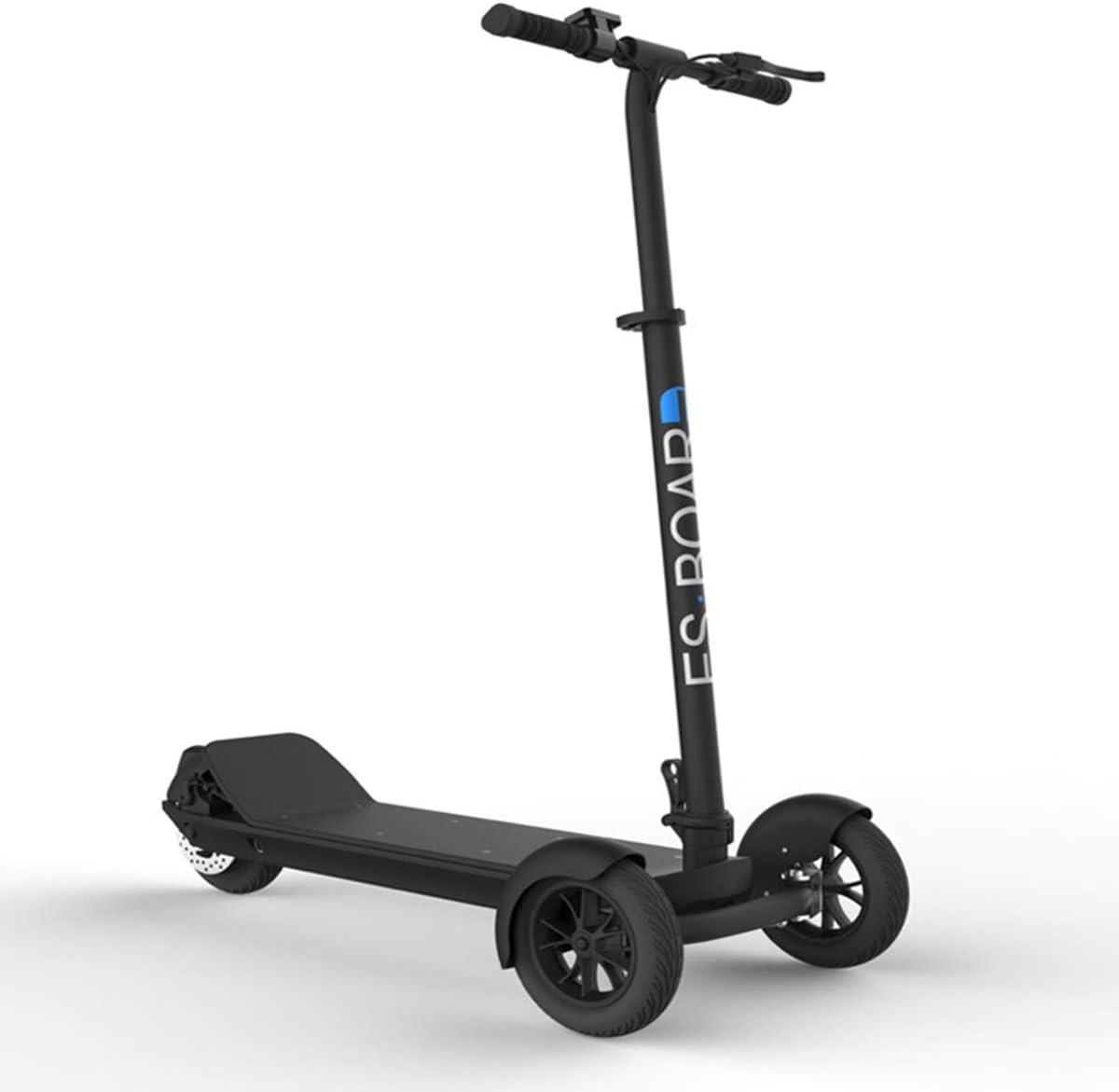 Dapang Scooter para Adultos, 3 Ruedas, Barra en T, manija de Altura Ajustable, patinetas, 500W 48V, Bicicleta eléctrica Impermeable con Rango de 30 Millas, Marco Plegable,2,30km
