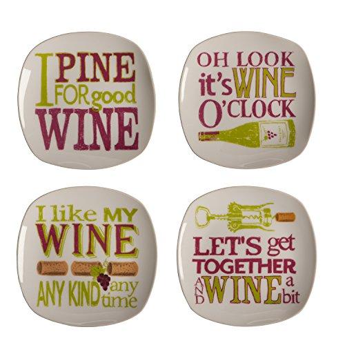 wine appetizer plates - 8