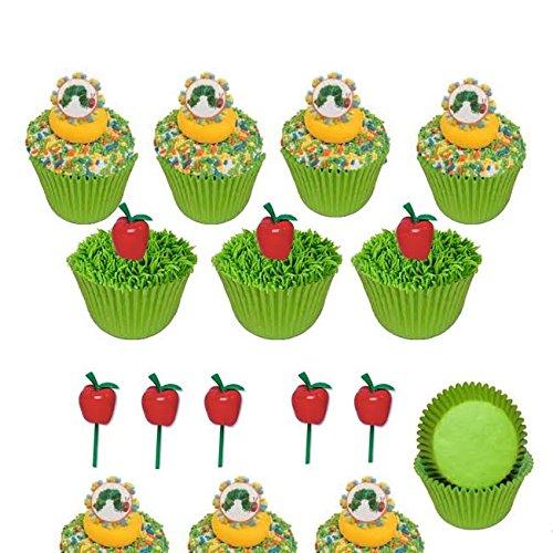 Hungry Caterpillar Cupcake Topper Set