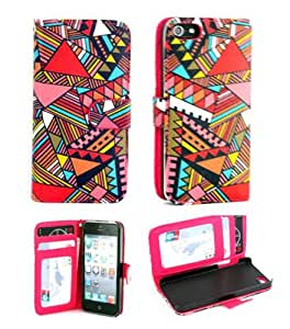 iphone. 5 case,iphone 5 cases,iphone 5 case leather,Ezydigital Carryberry Flip ID Card Wallet Colorful PU Leather Purse Design Case Cover w/Stand for IPhone 5 5S