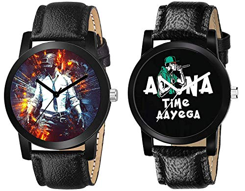 The Shopoholic Analog Black Dial Pubg Watches for Boys