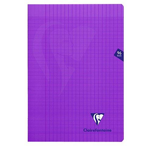 CLAIREFONTAINE Lot de 10 Cahiers MIMESYS Piqu/é Polypro 21 x 29,7 cm 96 pages 90g S/éy/ès Violet