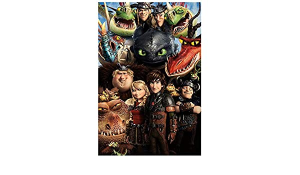 CNIAO Full Square//Round Drill 5D DIY Diamond PaintingHow to Train Your Dragon 3 Embroidery Cross Stitch 5D Home Decor Gift-30x40cm