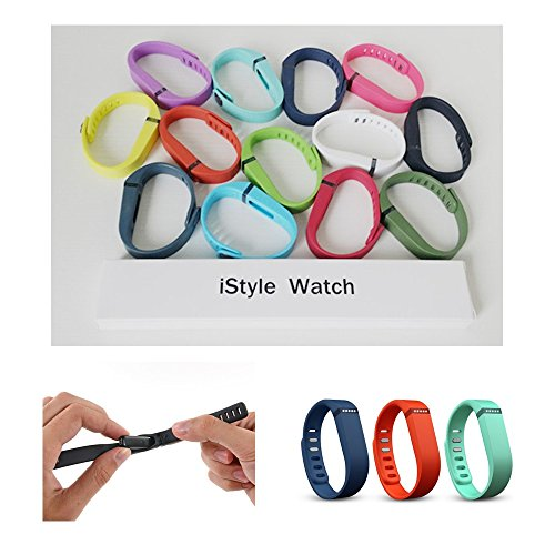 iStyle® Colorful Replacement Band + Clasp for Fitbit Flex