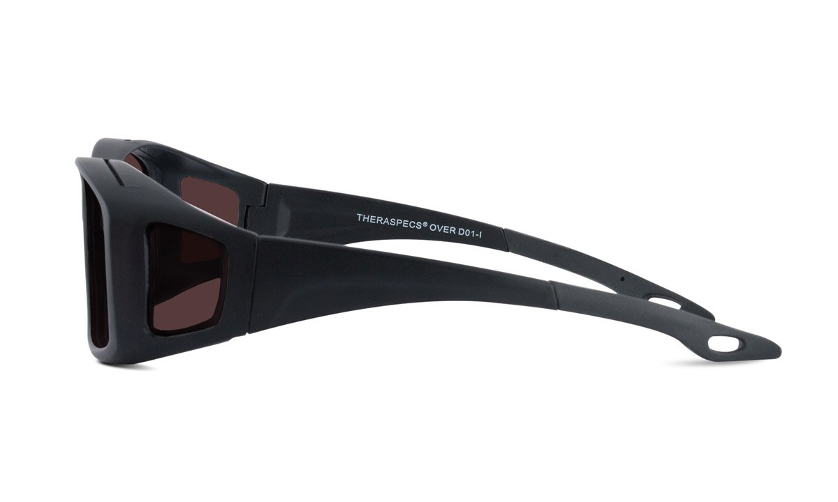 TheraSpecs Over Migraine Glasses for Light Sensitivity, Photophobia and Fluorescent Lights | Fits Over Prescription Eyewear | Unisex | Polarized Outdoor Lenses by TheraSpecs (Image #2)