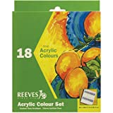 Reeves Assorted 12-Milliliter Acrylic Paints, 18-Pack