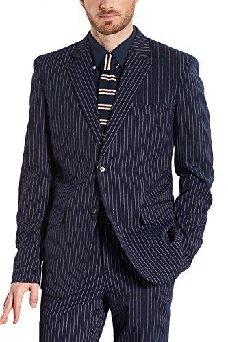 CMDC Men's New 3 Pieces Buniesses Party Pants Tuxedo Suits D163?Purple,46 Regular?