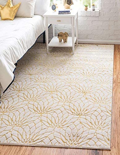 Unique Loom Marilyn Monroe Glam Collection Textured Geometric Trellis Area Rug_MMG002
