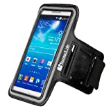 SumacLife Work Out Armband for Samsung / LG / ZTE / HTC / Huawei / Acer / Lenovo / Sony / Alcatel / Nokia / BlackBerry / Asus Smartphone (Black)