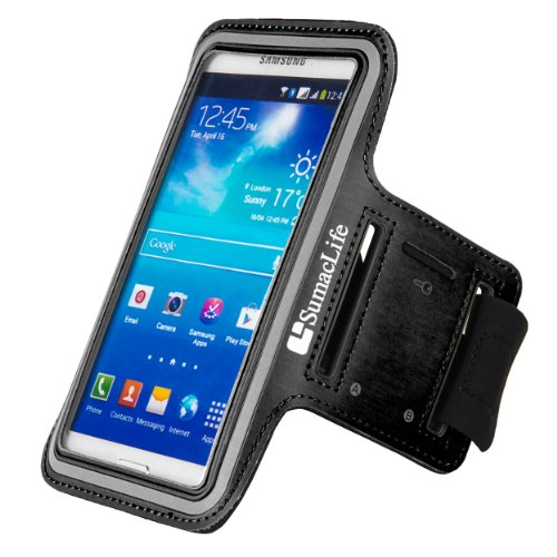SumacLife Sports Exercise Armband For Samsung Galaxy S5 (V) Android Smartphone
