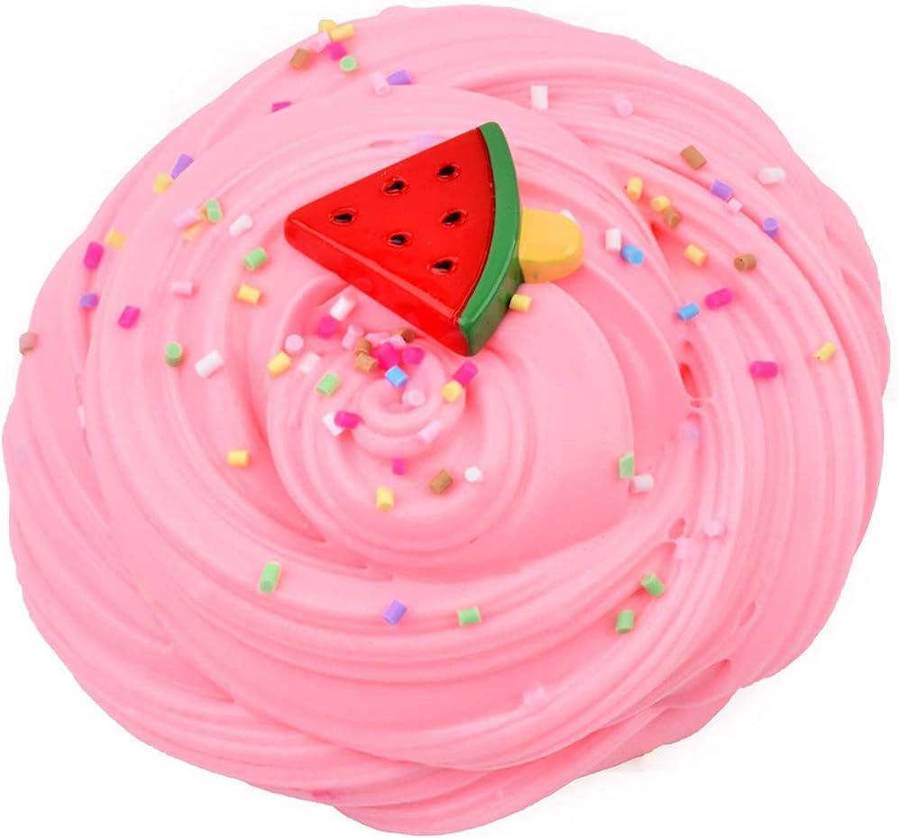 Watermelon Slime,Super Soft and Non-Sticky DIY Sludge Toy for Kids Dorothyworld 3 Pack Upgrade Scent Slime Including Stitch Slime Pineapple Slime