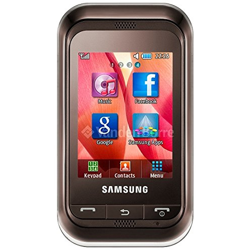 Samsung Quad Band Phones (Samsung C3303 Champ Unlocked Quad-Band Touchscreen Phone with FM Radio, Stereo Bluetooth and microSD Slot - Unlocked Phone - International Version No Warranty - Brown)
