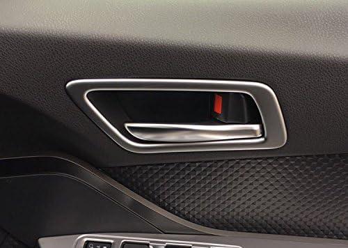 4P Carbon Fiber Inner Door Handle Bowl Cover Trim For Toyota CHR C-HR 2016-2019