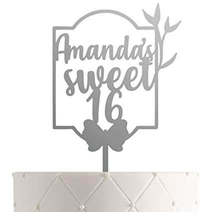 Super Personalized Sweet 16 Birthday Cake Topper With Customized Name Funny Birthday Cards Online Necthendildamsfinfo