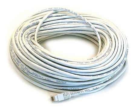 Ethernet Cable 100 ft. White Cat 5e