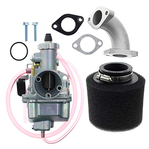 Carbhub VM22 26mm Carburetor for Mikuni Intake Pipe Pit Dirt Bike 110cc 125cc 140cc Lifan YX Zongshen Pit Dirt Bike XR50 CRF70 KLX BBR Apollo Thumpstar Braaap Atomic DHZ SSR VM22 26mm Carburetor (Ssr 110 Carburetor)