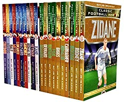 Ultimate Football Heroes Collection 20 Books Set Pack Kane, Neymar, Ronaldo, Hazard, Lukaku, Messi, Bale, Aguero, Coutinho, Sanchez, Ronaldo, Maradona, Figo, Beckham