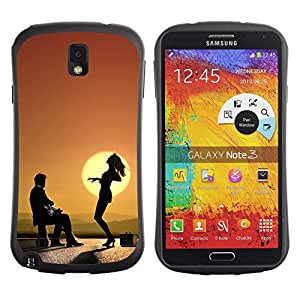Be-Star Impreso Colorido Diseño Antichoque Caso Del iFace Primera Clase Tpu Carcasa Funda Case Cubierta Par SAMSUNG Galaxy Note 3 III / N9000 / N9005 ( Funky Funny Sunset Dance )