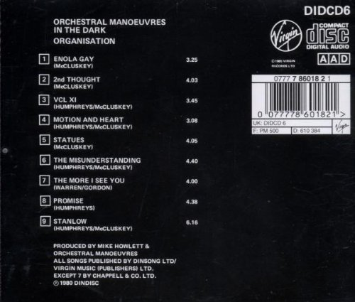 Organisation by Virgin Records Us