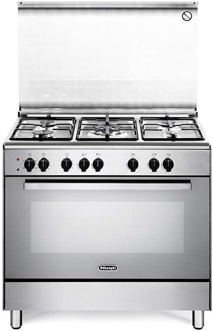 De Longhi DEMX96ED - Cocina de gas con horno eléctrico (5 ...