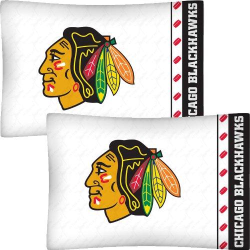 NHL Chicago Blackhawks Hockey Set of 2 Logo Pillow Cases