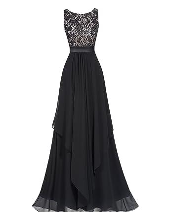 60f62a8b6c6b2 VikDressy Women's A-Line Chiffon Prom Dress Scoop-Neck Zipper-Up Evening  Gown