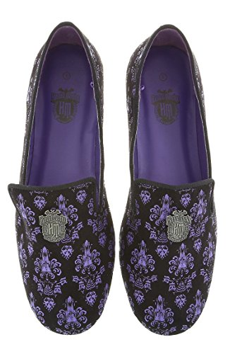 Disney Parks Haunted Mansion Purple Wallpaper Textured Women's Loafer Flats Shoes (9)