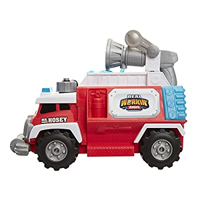 Real Workin' Buddies Mr. Hosey The Super Spray Fire Truck Vehicle Toy: Toys & Games