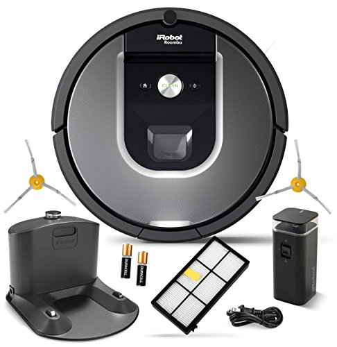 iRobot Roomba 960 Robotic Vacuum Cleaner Wi-Fi Connectivity + Manufacturer's Warranty + Extra Sidebrush Bundle