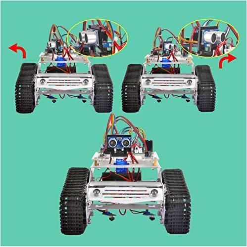 KOOKYE Robot Car Chassis + Robot Car Electronics Parts Kit Tank Platform Metal Stainless Steel 2DW Motor 9V for Arduino by KOOKYE (Image #2)