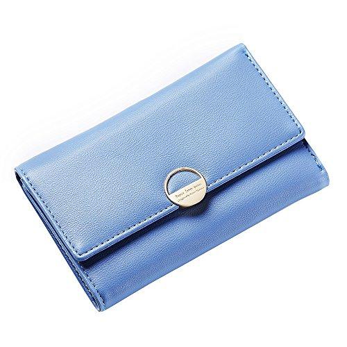 Elegante minimalista Versatile donna lunga Multi multipla Classic New Blu bags a mano Scsy card Portafoglio funzionalità per q7PUWwO