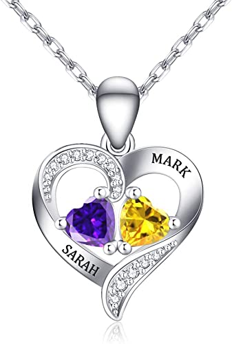 Personalized Birthstone Name Necklace 925 Silver Necklace Mom/'s Jewelry