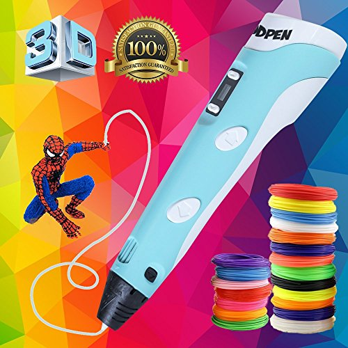 3D Pen with LCD Screen, Modpen 3D Printing Pen, 3D Doodler Pen with 1.75mm PLA ABS Filament for Drawing, 3d Pen Kit - 3D Drawing Pen for Arts & Crafts , 3D Pen For Kids by modpen