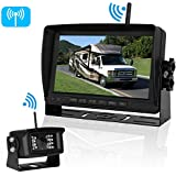 iStrong Digital Wireless Backup Camera System for RV/Truck/Trailer/5th Wheel/Motorhome Range 450ft No Flickers with 7 Monitor Kit Rear/Front/Side View Camera Guide Lines ON/OFF IP69 Waterproof