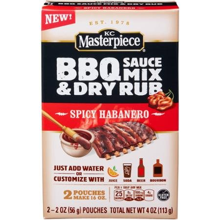 KC Masterpiece Spicy Habanero Barbecue Sauce Mix & Dry Rub