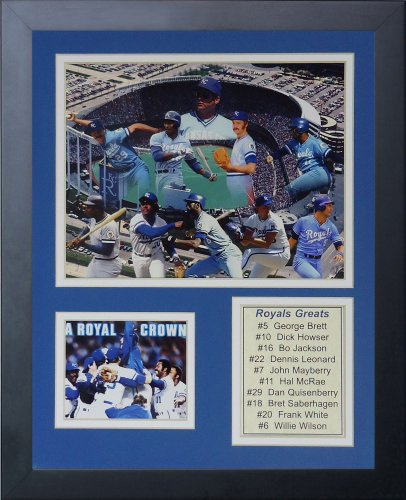 Legends Never Die MLB Kansas City Royals Greats Framed Photo Collage, 12